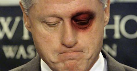 clinton eye color ex secret service officer claims gave bill a black
