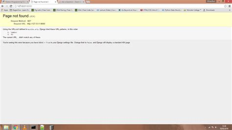 django tutorial page not found python django framework page not found stack overflow
