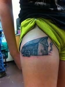 barn tattoos tractor in a farm tattoomagz