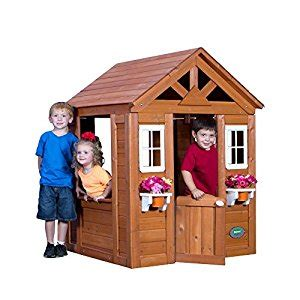 backyard discovery cedar playhouse amazon com backyard discovery timberlake all cedar wood
