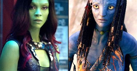 actress of avatar movie zoe saldana in guardians of the galaxy green or avatar