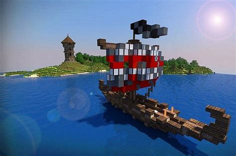 minecraft viking boat small nordic longboat with download minecraft project