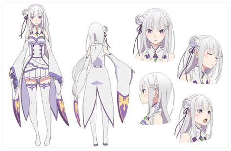 Kaos Anime Re Zero Kara Emilia re zero kara hajimeru isekai seikatsu presenta sus dise 241 os de personajes koi nya net