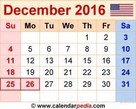 december 2016 calendar with holidays 2017 printable calendar