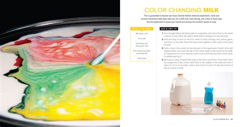 color changing milk experiment media center eggs and flying potatoes book by