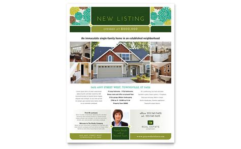 sle brochure templates microsoft word real estate flyer template word publisher