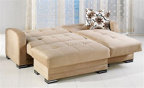 Sunset Upholstery by Kubo Sectional Sofa In Rainbow Beige Fabric By Sunset