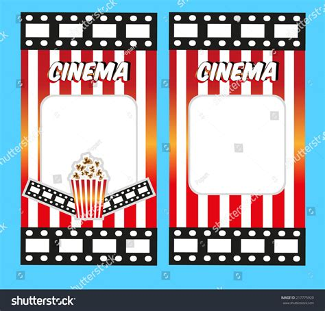 Cinema Tickets Invitation Design Template Stock Vector 217775920 Shutterstock Theater Invitation Template