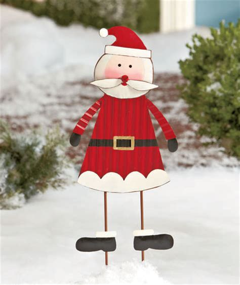 santa claus outdoor metal christmas holiday winter yard