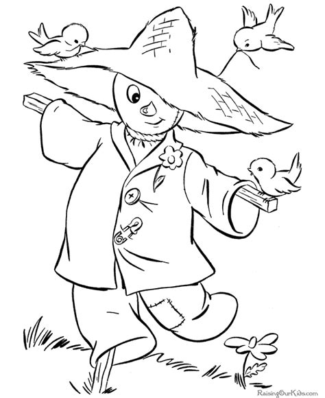 halloween scarecrow coloring pages 001