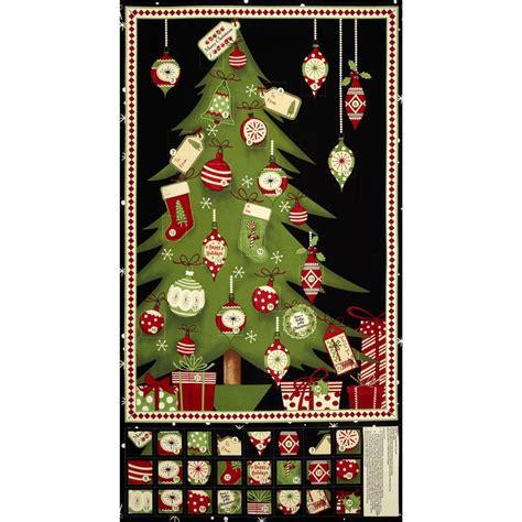 Fabric Advent Calendar Debbie Mumm Jolly Advent Calendar Panel Multi