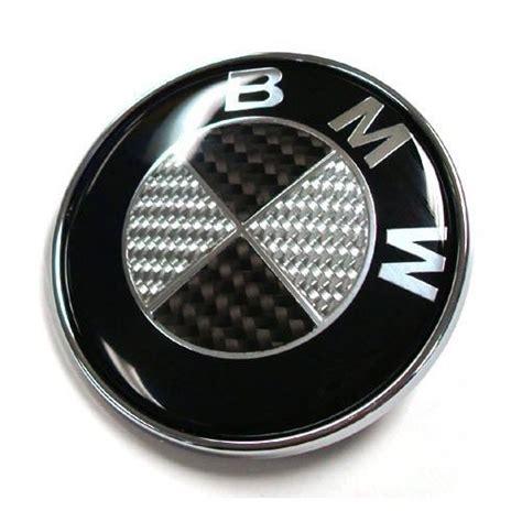 carbon fiber bmw emblem bmw black carbon fibre logo 74mm boot bonnet emblem badge