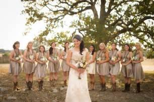 fantastic bridesmaid dresses in marvelous rustic style