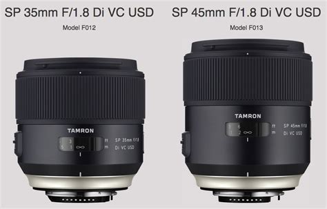 Tamron 35mm tamron sp 35mm and 45mm f 1 8 di vc usd lenses for nikon f