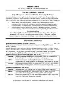 Civil Project Manager Sle Resume by Project Manager Skill Set Resume