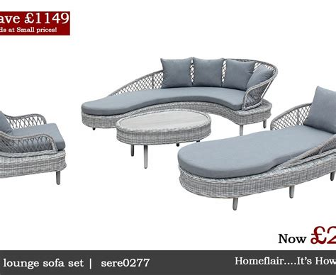 rattan grey serenity luxury curve sofa chair collection