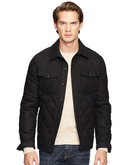 Polo Ralph Quilted by Polo Ralph Quilted Officer S Jacket In Black For