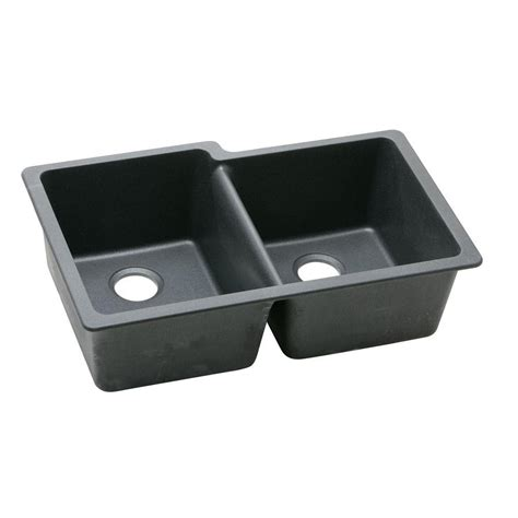Composite Undermount Kitchen Sinks Elkay Elkay By Schock Dual Mount Quartz Composite 33 In Bowl Kitchen Sink In Gray
