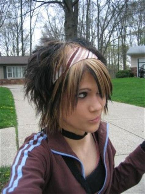 spiky swooped hair long in front but spiked in back young girl hairstyles