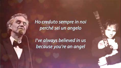 ed sheeran perfect bocelli perfect symphony ed sheeran with andrea bocelli lyrics