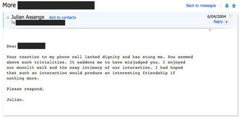 An Improper Lover anorak julian assange s lover improper emails to a