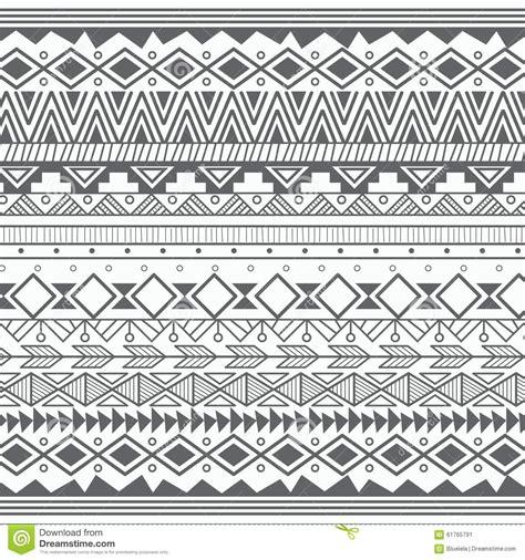 aztec tribal pattern vector aztec tribal pattern in stripes stock vector image 61765791