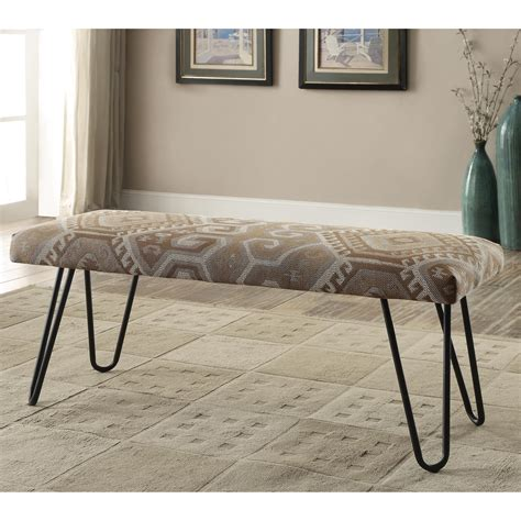 coaster bench coaster benches 500783 mid century modern upholstered