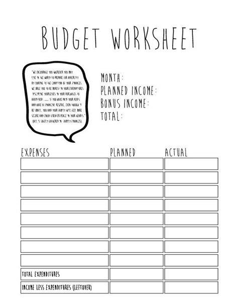 free household budget worksheet printable nara colors com