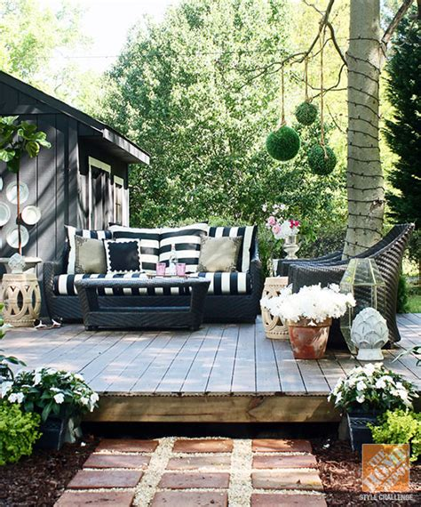 how to build a backyard deck how to build a fabulous diy floating deck the garden glove