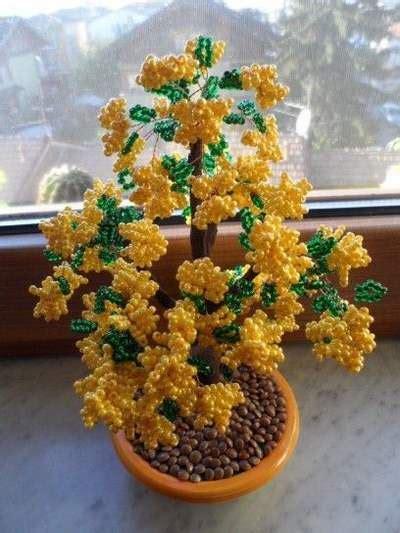 fiori di perline istruzioni mimose fai da te realizzate a costo zero o quasi greenme
