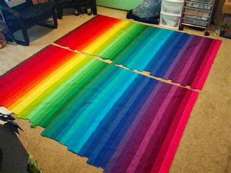 lets quilt something rainbow bargello jelly roll kona