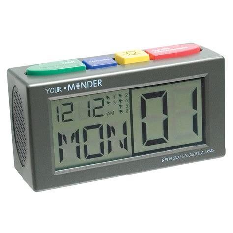 maxiaids talking personal recording alarm clock
