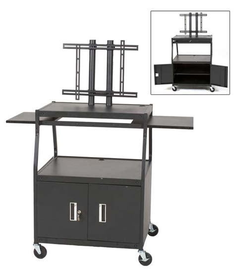 sliding shelf for tv cabinet balt flat panel tv cart with sliding shelves and cabinet