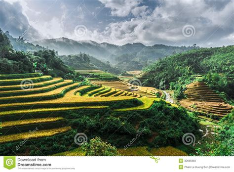 hills  rice terraces  mountains  clouds