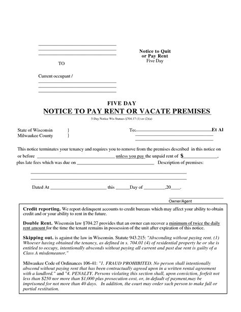 Search Results For 5 Day Eviction Notice Template Illinois Calendar 2015 5 Day Notice To Pay Rent Template