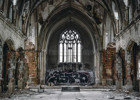 Amazing Cabrini Church #2: Abandoned-church-ruined-decaying-covered-graffiti-over-exposed-bricks-outskirts-detroit-52863144.jpg