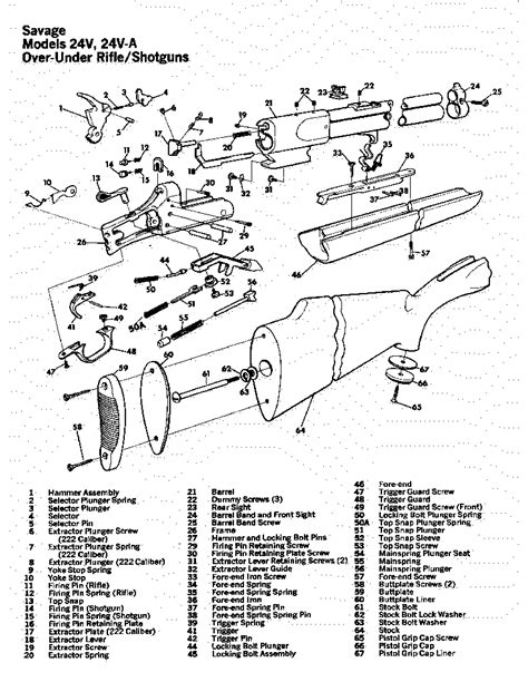 savage model 110 parts diagram savage model 24
