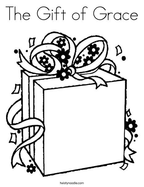 coloring pages of the name grace the gift of grace coloring page twisty noodle