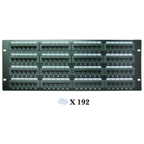 patch panel 96 cat6 patch panel 110 type 568a 568b compatible