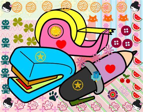 imagenes de utiles escolares para inicial dibujo de utiles escolares pintado por nachatop en dibujos