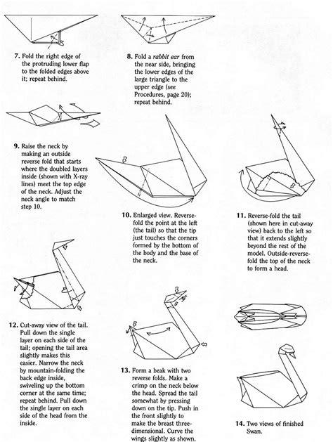 Origami Swan Diagram - swan robert j lang