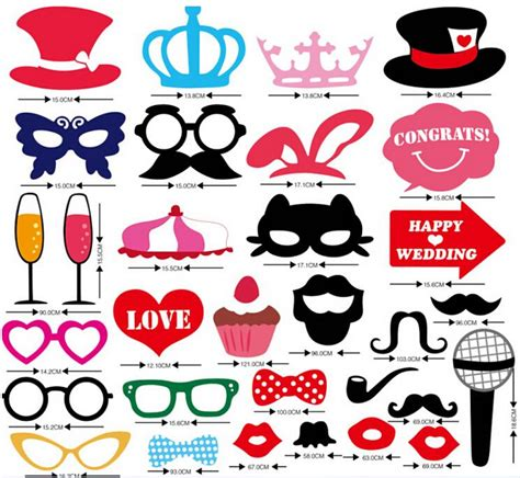 Happy 31 G Size mustache on a stick wedding photo booth props