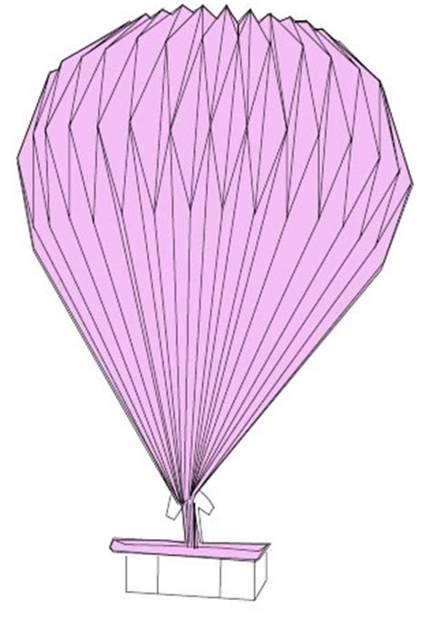 How To Make Origami Air Balloon - 折纸热气球图解 纸艺网