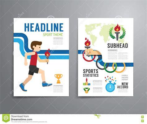 Brochure Flyer Template Stock Image Cartoondealer Com 90946525 Sports Graphic Design Templates