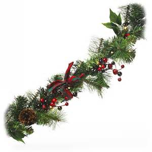 wilko christmas garland led pre lit 1 5m at wilko com