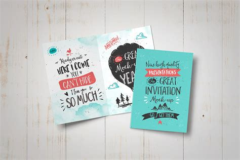 Greeting Card Mockup Template by Invitation Greeting Card Mock Up Punedesign