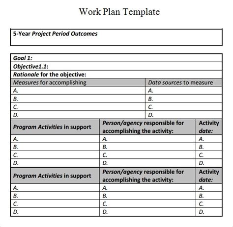 Work Plan Template 17 Download Free Documents For Word Excel Pdf Work Plan Template Free