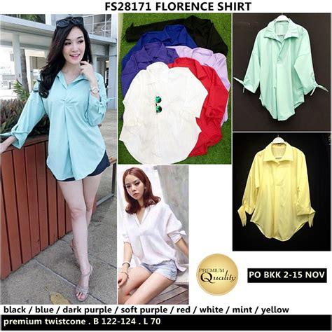 Po Dress Import Quality Premium A41906 florence shirt supplier baju bangkok korea dan hongkong premium quality import thailand