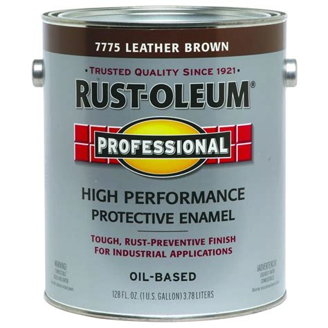 rust oleum professional 1 gal leather brown gloss protective enamel of 2 7775402 the