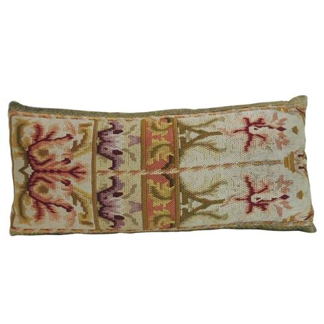 Decorative Lumbar Pillows by 19th Century Tapestry Decorative Lumbar Pillow For Sale At